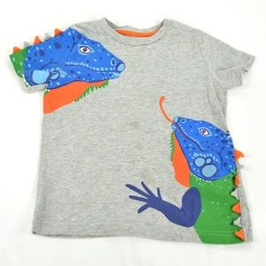 Mini Boden Toddler Boys Short Sleeve 3D Iguana T-S